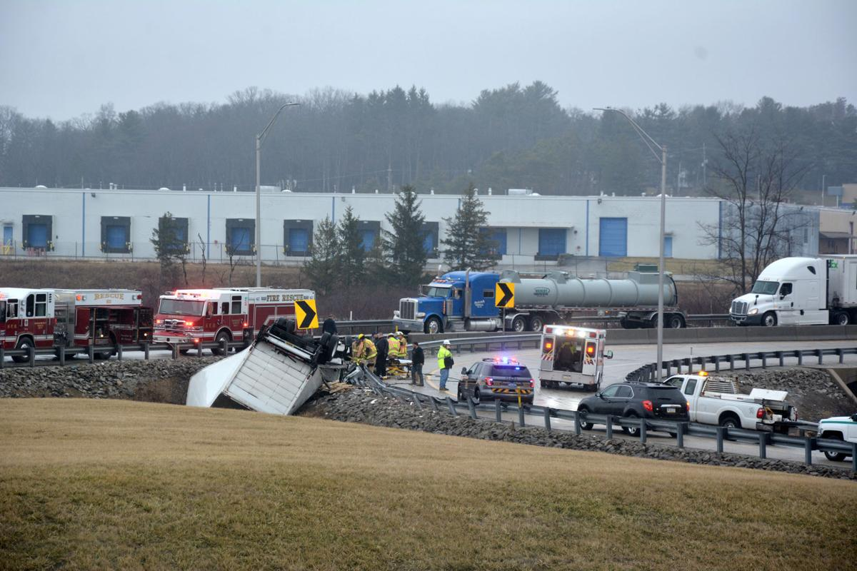 Box truck overturns, trapping driver, on Pennsylvania Turnpike | | dailyamerican.com